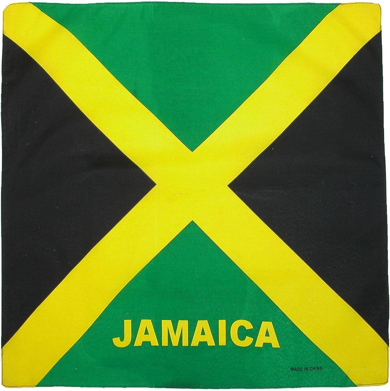 CTM Cotton Jamaica Flag Bandana Set (Pack of 12)