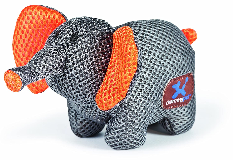 Charming Pet Mesh Lil Roamers Pet Squeak Toy, Elephant