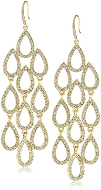 Amazon abs by allen schwartzpave beach gold tone pave abs by allen schwartzquotpave beachquot gold tone pave chandelier earrings aloadofball Image collections