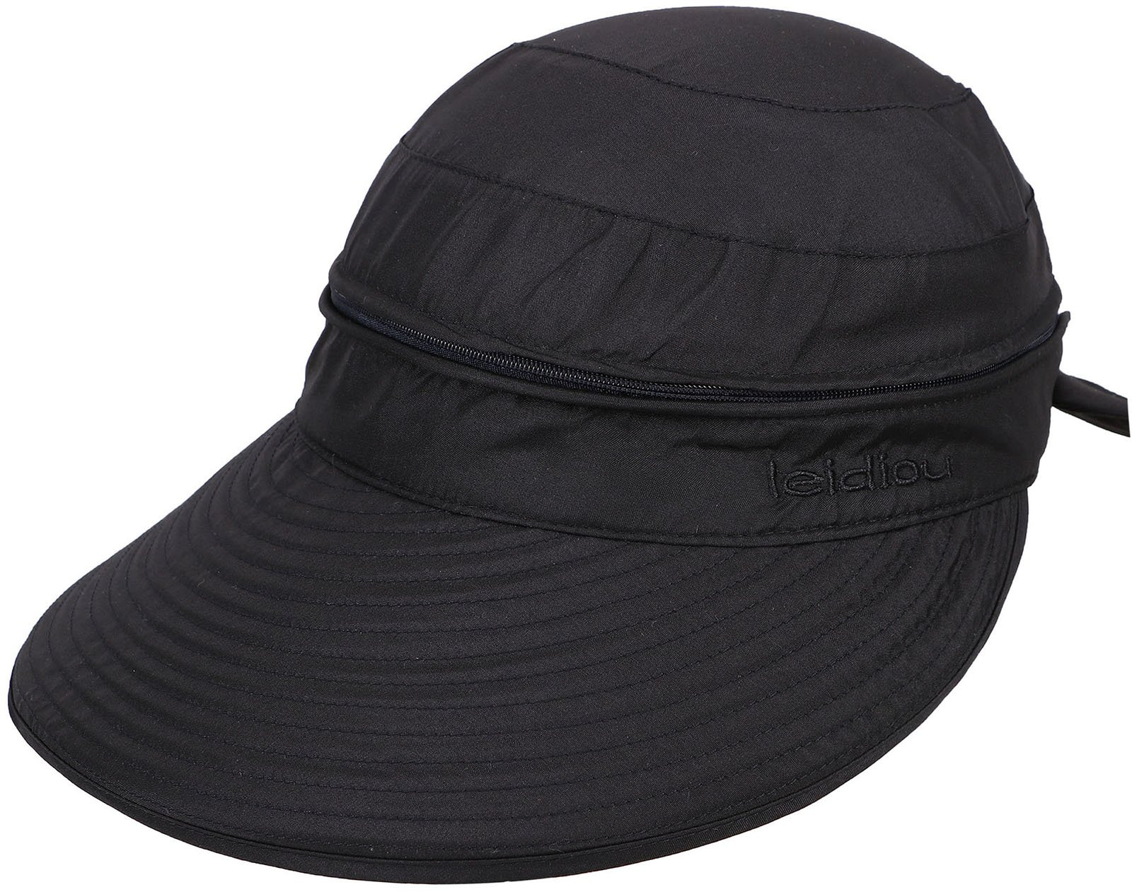 ca71bb35 Simplicity Women's UPF 50+ UV Sun Protective Convertible Beach Hat Visor  Black