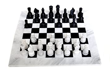 Radicaln Black And White Board Games Marble Chess Game Handmade Marble Chess  Set Gift For Her
