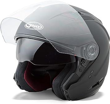 GMAX OF77 Mens Open Face Street Motorcycle Helmet Matte Black X-Large G3770077