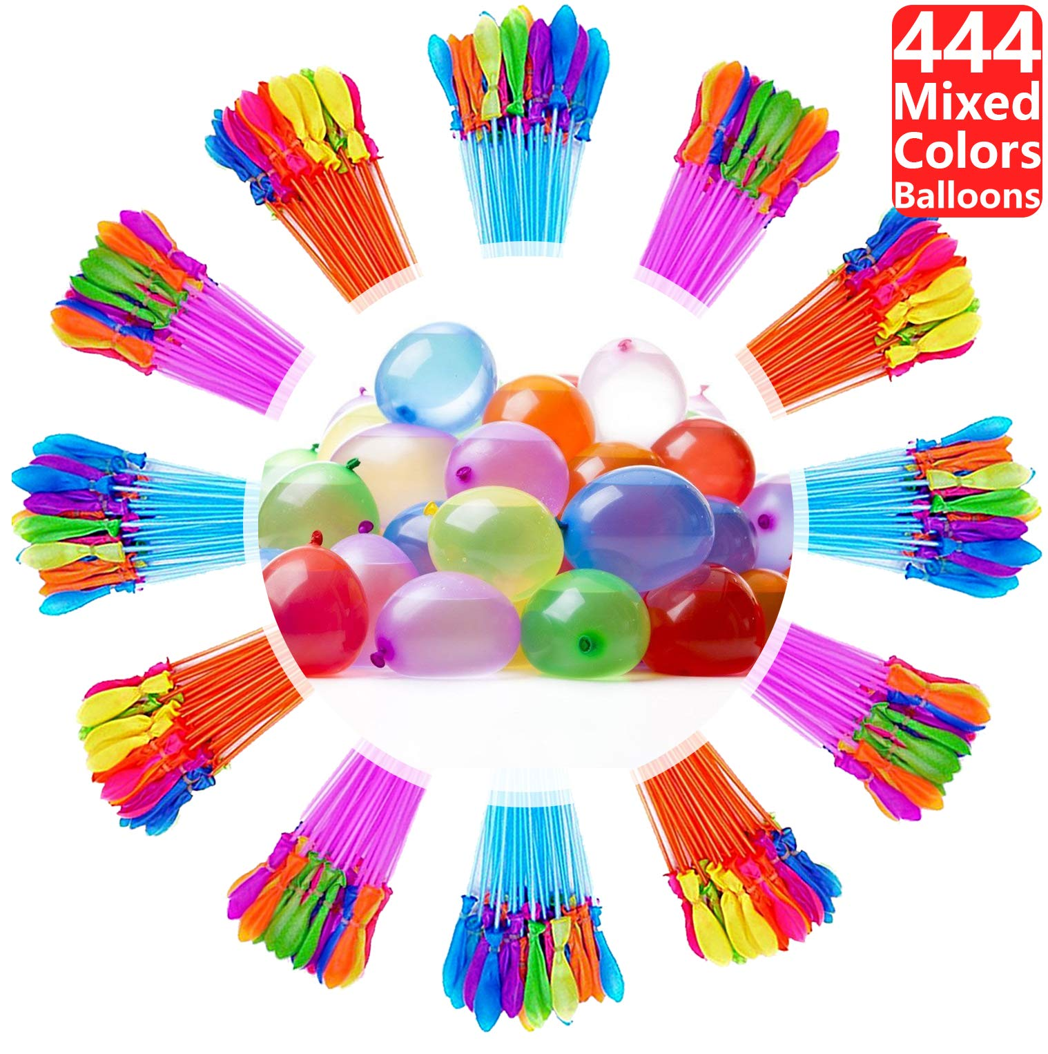Water Balloons for Kids Girls Boys Balloons Set Party Games Quick Fill Water Balloons 444 Bunches Swimming Pool Outdoor Summer Fun C10 by Magic balloons