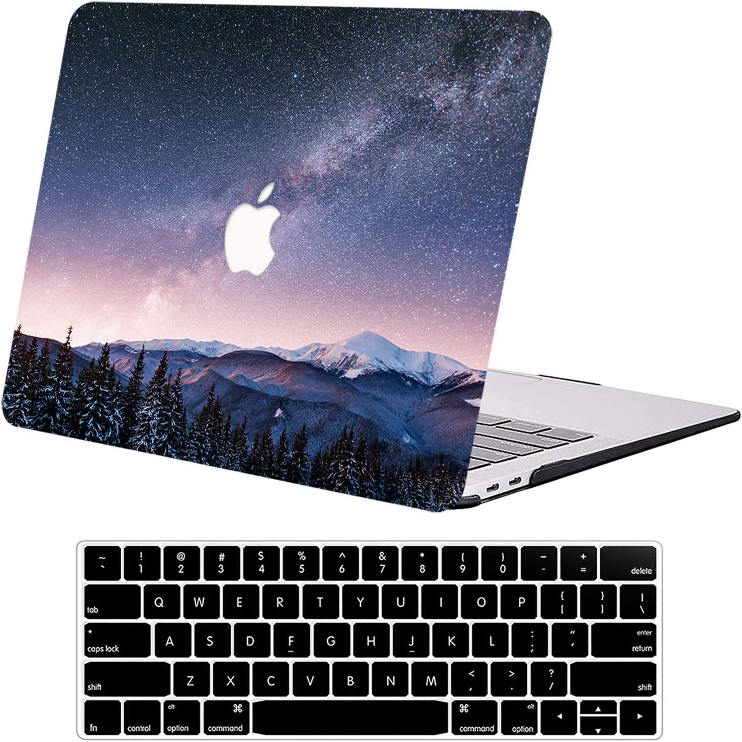 Case Compatible with MacBook Pro 13 Inch A1502 A1425 DTangLsm Plastic Hard Shell Case&Keyboard Cover Laptop Protective Cover Fit for Older 13'' Mac Pro with Retina Display 2012-2015 Release, Tree