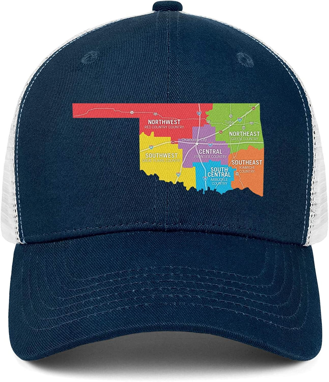 Things to Do in Central Oklahoma Men//Women Classic Snapback Cap Baseball Hat