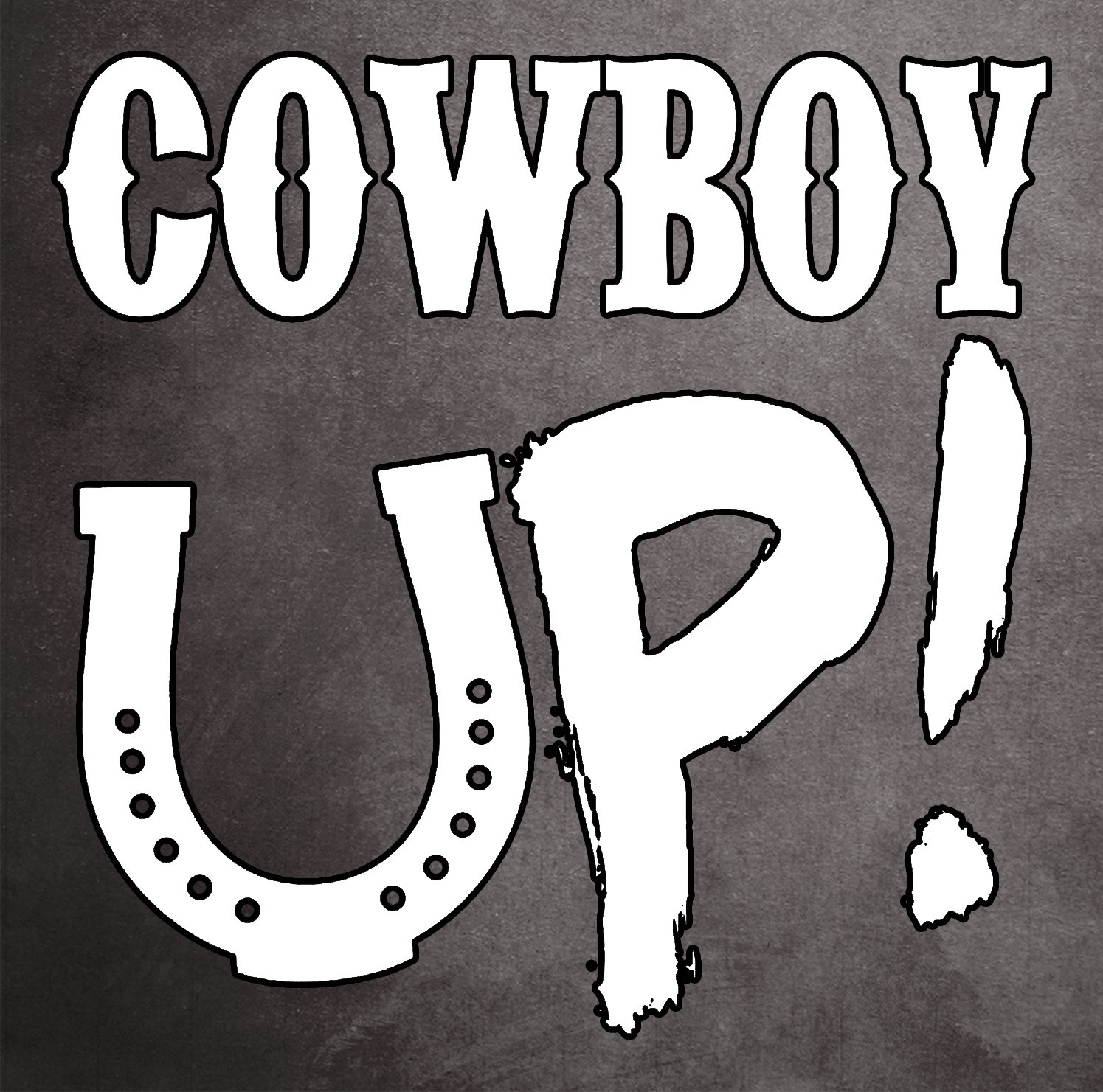 c242009bbac Amazon.com  Cowboy Up! Lucky Horseshoe Rodeo Hat Boots Fresh Water  Background Full Color window decal sticker  Automotive