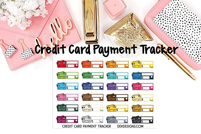 amazon com credit card payment tracker planner calendar stickers