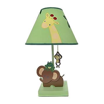 Amazon.com : NoJo Jungle Babies Lamp and Shade : Nursery Lamps : Baby
