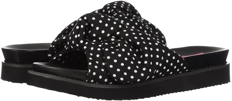 Betsey Johnson Women's June Slide Sandal B076XQ2D7N 9.5 B(M) US|Black/Polka Dot