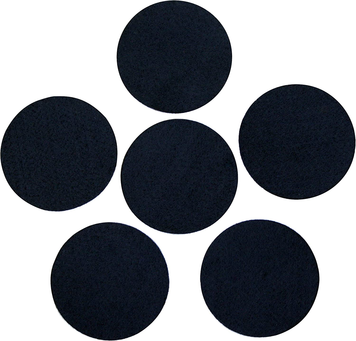 Professional Craft Finishing 3 Black Adhesive Felt Circles 2 inch Single Package of 10, 4 Inch Circles Self Stick Die Cut; DIY Projects 4 or 5 Wide