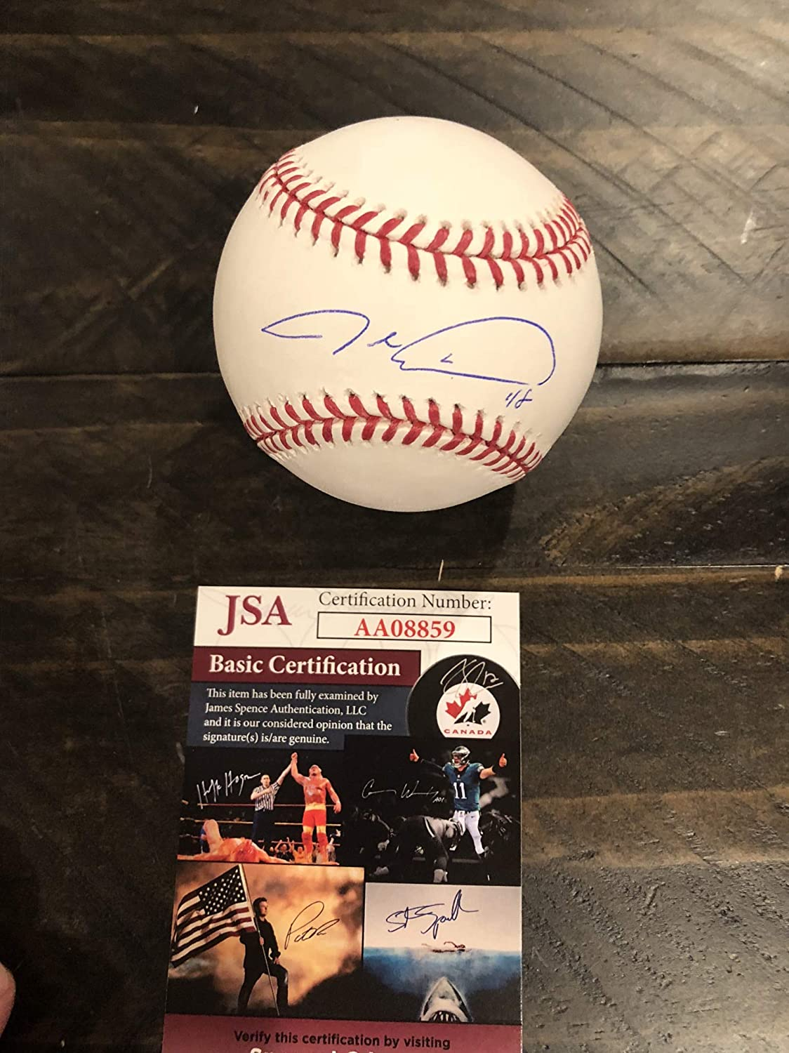 Autographed Jacob Degrom official Major League Baseball JSA certified signed