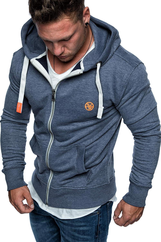 Amaci& Sons Herren Zipper Kapuzenpullover Sweatjacke Pullover Hoodie Sweatshirt 1-04029