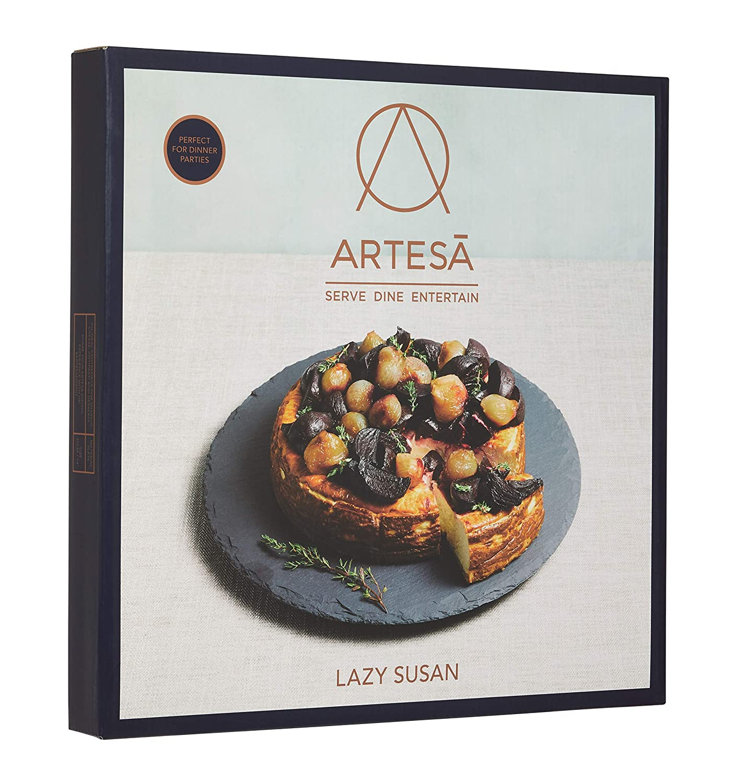 35 cm KitchenCraft Artes/à Slate Lazy Susan Turntable Platter