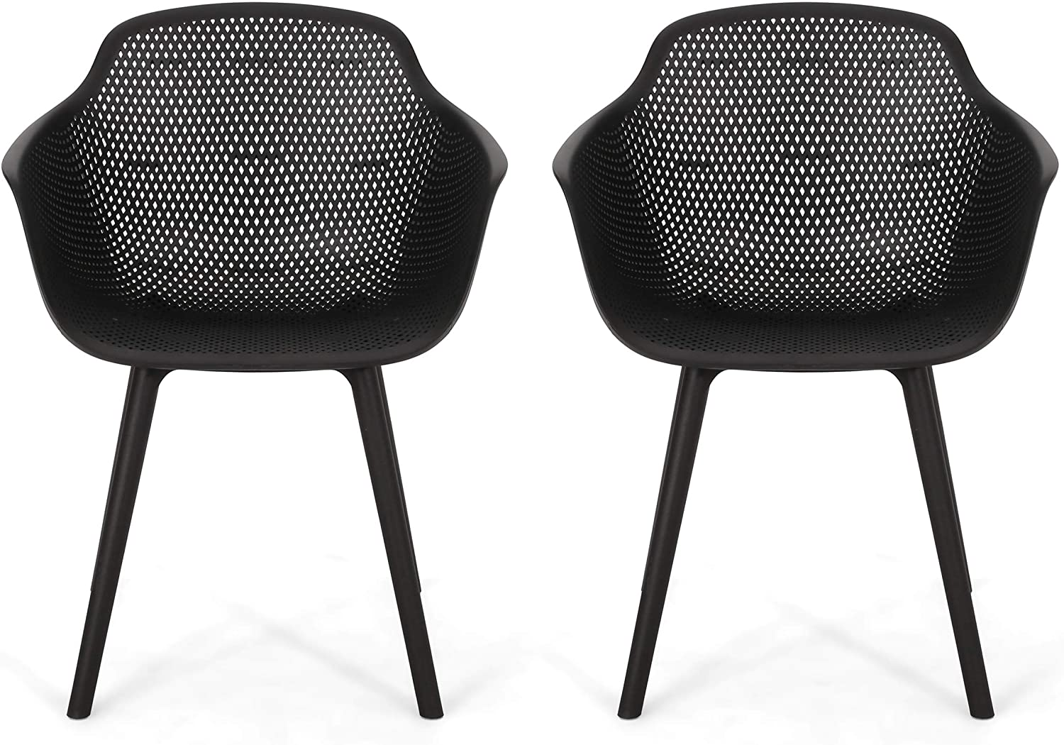 Christopher Knight Home 312466 Davina Outdoor Dining Chair (Set of 2), Black