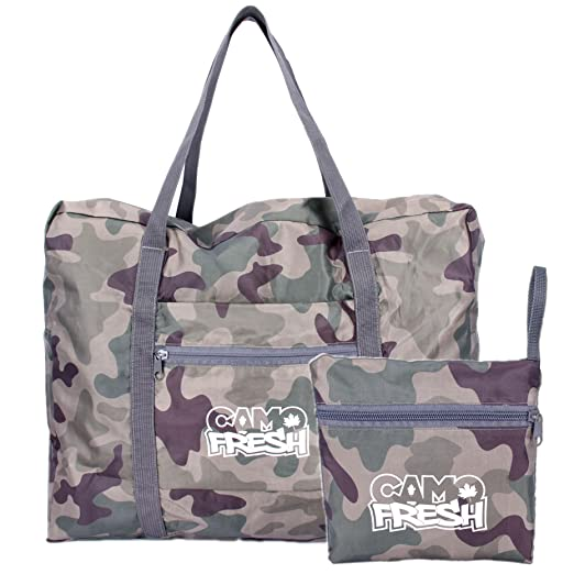 4949369cd945 CamoFresh Foldable Travel Duffel Bag Lightweight Packable Tote