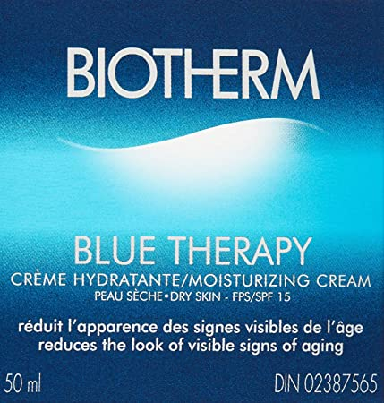 Biotherm Blue Therapy Moisturizing Cream SPF 15- for Dry Skin, 1.7 Ounce