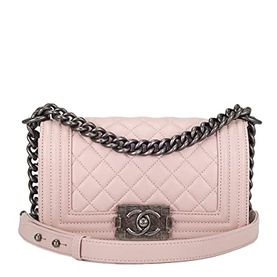 af265d2f10cb Amazon.com: Chanel Light Pink Quilted Lambskin Small Boy Bag: Shoes