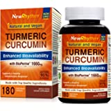 Organic Turmeric Curcumin with BioPerine and 95% Curcuminoids, 1660mg, 180 Veggie Capsules