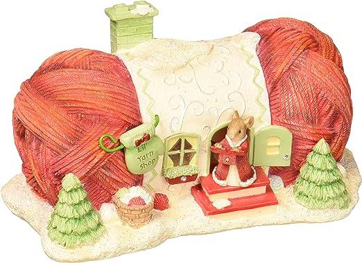 "Enesco Heart of Christmas Lil/' Yarn Shop Figurine 2.76/"" Multicolor"