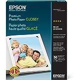 Epson Premium Photo Paper GLOSSY (8.5x11 Inches, 50 Sheets) (S041667),White