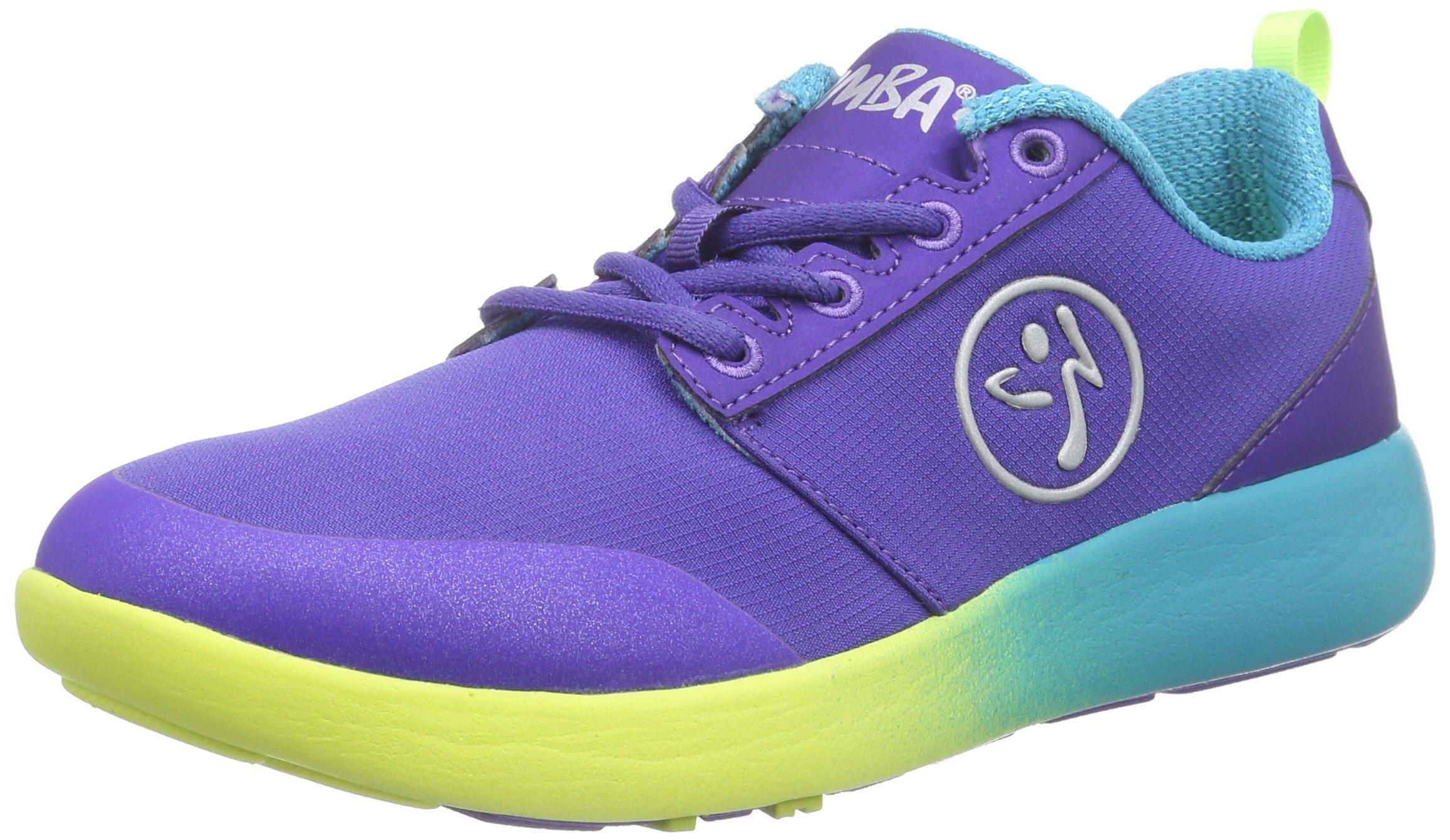Zumba Women's Court Flow Dance Shoe, Purple, 6 M US