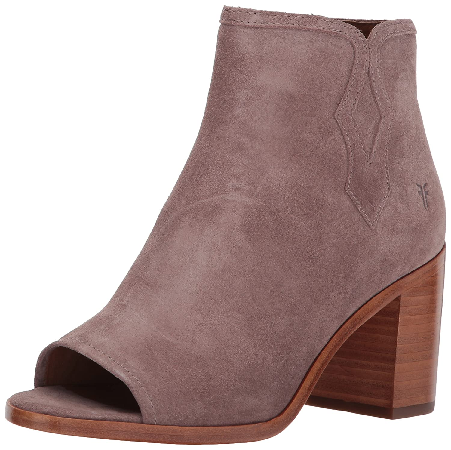 FRYE Women's Danica Peep Bootie Boot B01NGWP7B3 11 B(M) US|Dusty Rose Soft Oiled Suede