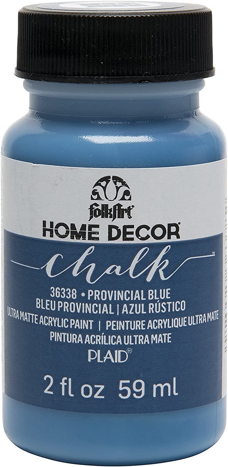 FolkArt 36338 Home Decor Chalk Furniture & Craft Paint in Assorted Colors, 2 ounce, Provincial Blue