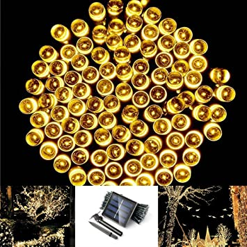 Amazon solarmks dz 0200 solar string lights outdoor garden solarmks dz 0200 solar string lights outdoor garden 72ft 200 led christmas lights warm white mozeypictures Choice Image