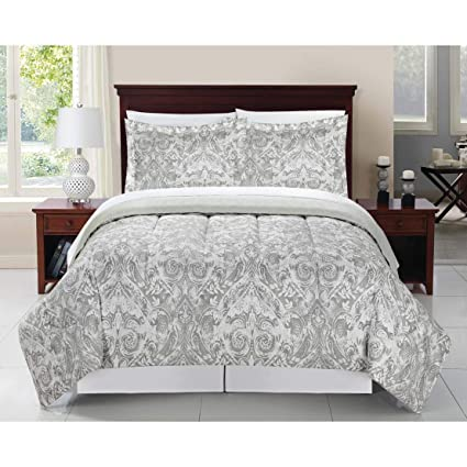 Amazon Com Overstock Kensie Grey 8 Piece Bed In A Bag Comforter Set