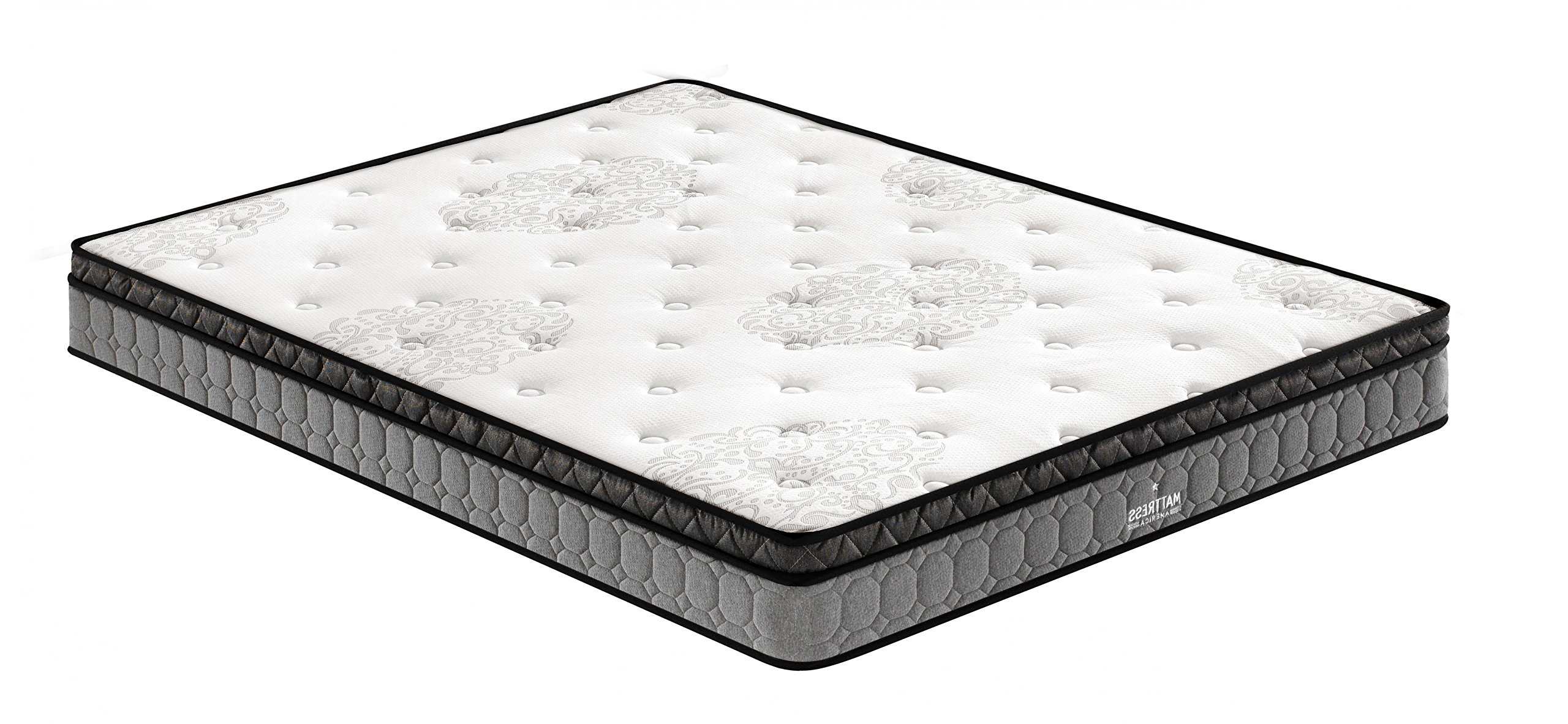 Mattress America 8 Inch Pillow Top Hybrid Mattress, Queen by Mattress America