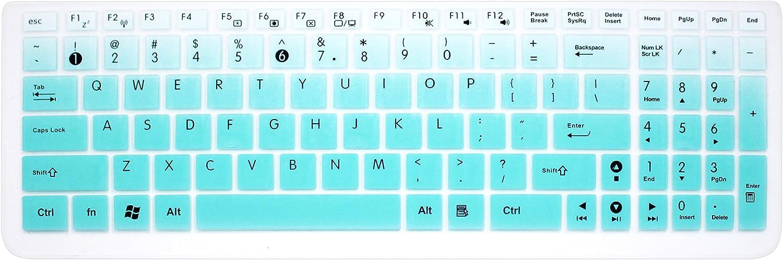 Keyboard Cover Skin for ASUS 15.6 inch F555 F554LA F556UA GL552VW K501UX K501LX K501UW GL502VY GL502VT/GL552VW GL752VW Q503UA Q524UQ/Q534UX Q552UB Q553UB/Q534UX X540SA X751LAV X550ZA (Ombre Mint)