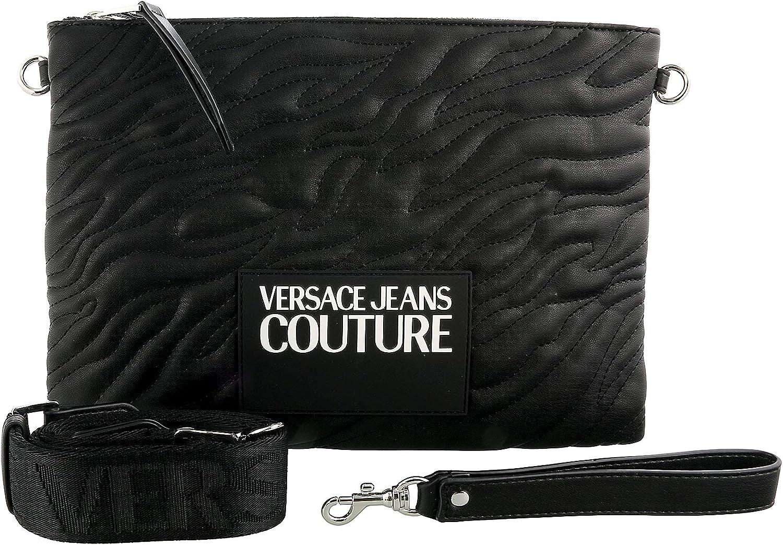 Versace Jeans Couture Black Medium Pouch Wristlet Crossbody Bag for womens