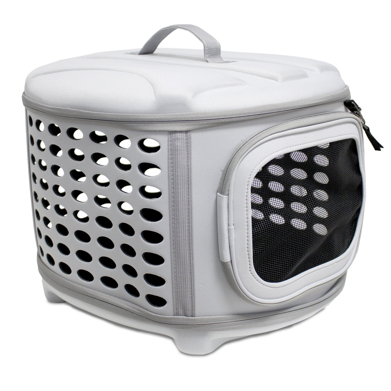 Yatek Transportin para Perros y Gatos Plegable, Lavable, Recomendado para Mascotas de hasta 5kg Color Gris Claro
