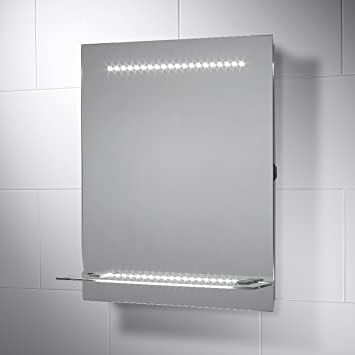 Reno LED Illuminated Bathroom Mirror With Lights 500mmW X 600mmH