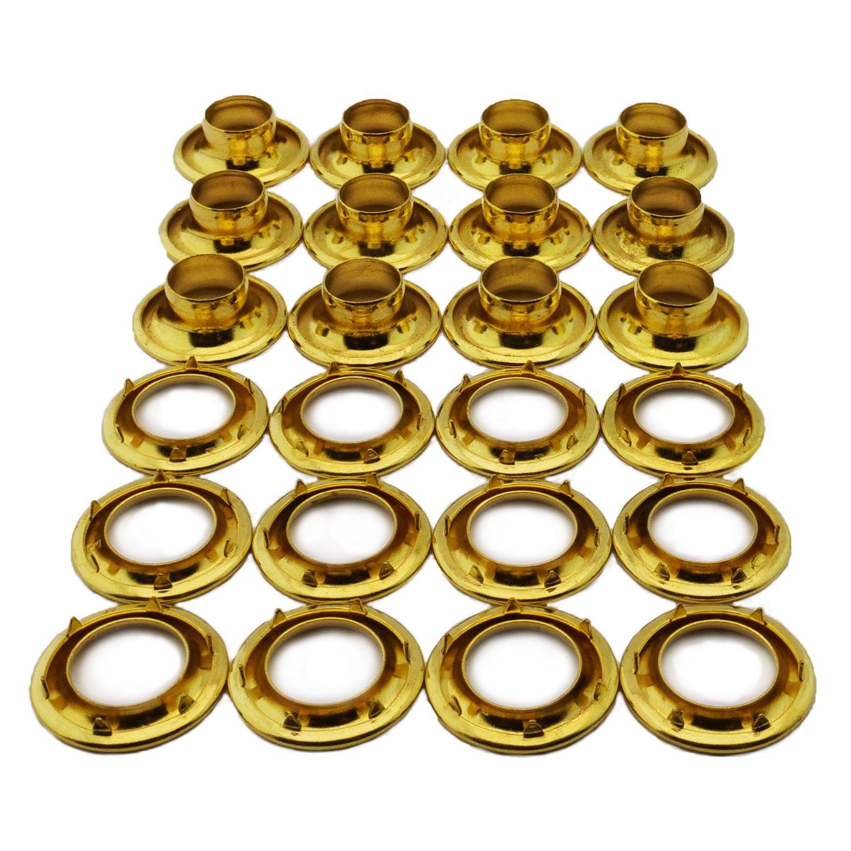 C.S. Osborne 12 Sets Brass Grommets & Spur Washers #G2-6 (3/4'' Hole)