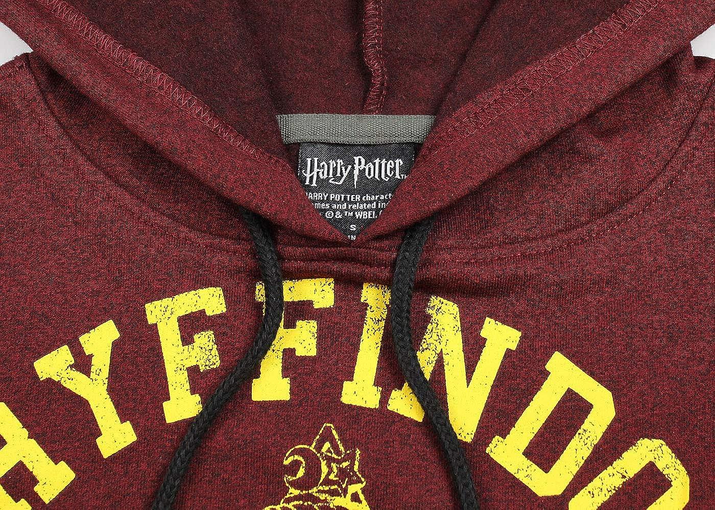Hombres Chaqueta con Capucha de Harry Potter Quidditch Pullover Gryffindor Cresta Angustiado, XL
