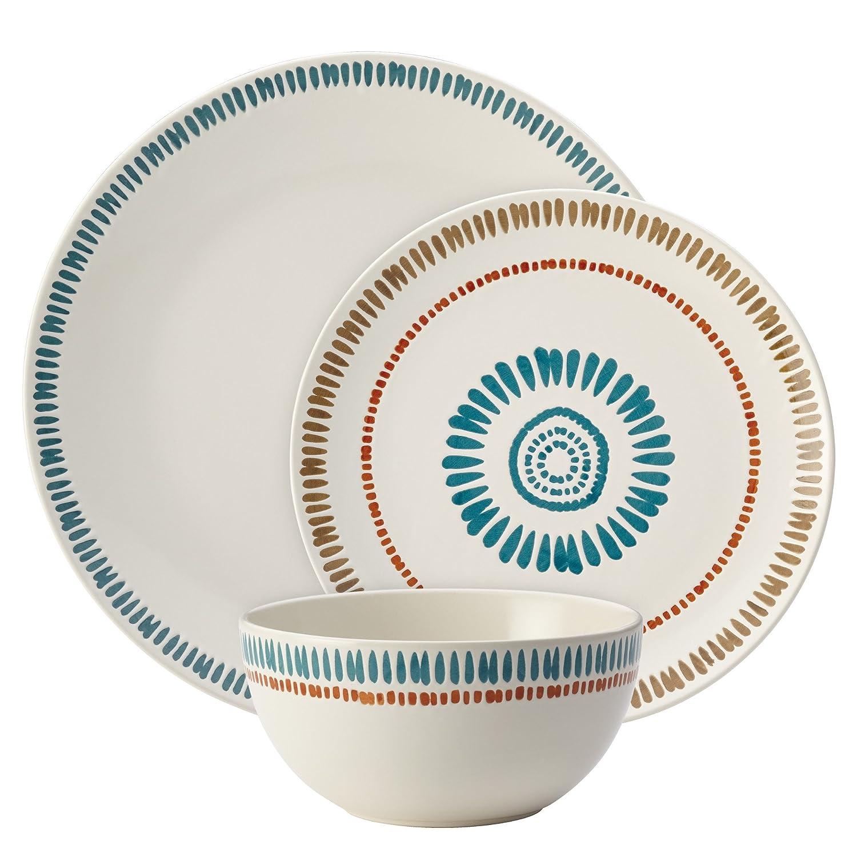 Amazon.com | Rachael Ray Cucina Sun Daisy 12-pc. Stoneware ...