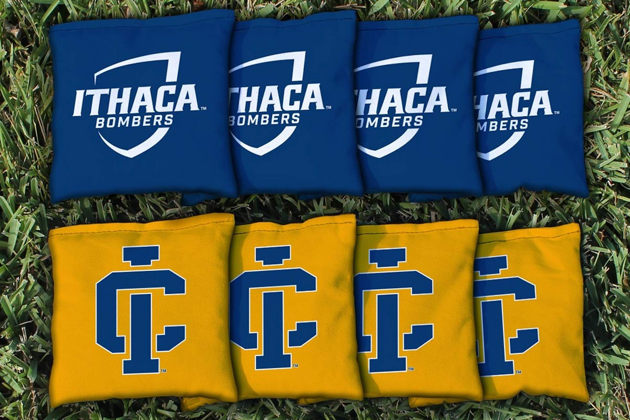 Victory Tailgate NCAA Collegiate Regulation Cornhole Game Bag Set (8 Bags Included, Corn-Filled) - Ithaca Bombers by Victory Tailgate