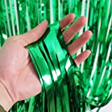 Sumind 3 Pack Metallic Tinsel Curtains, Foil Fringe Shimmer Curtain Door Window Decoration for Birthday Wedding Party
