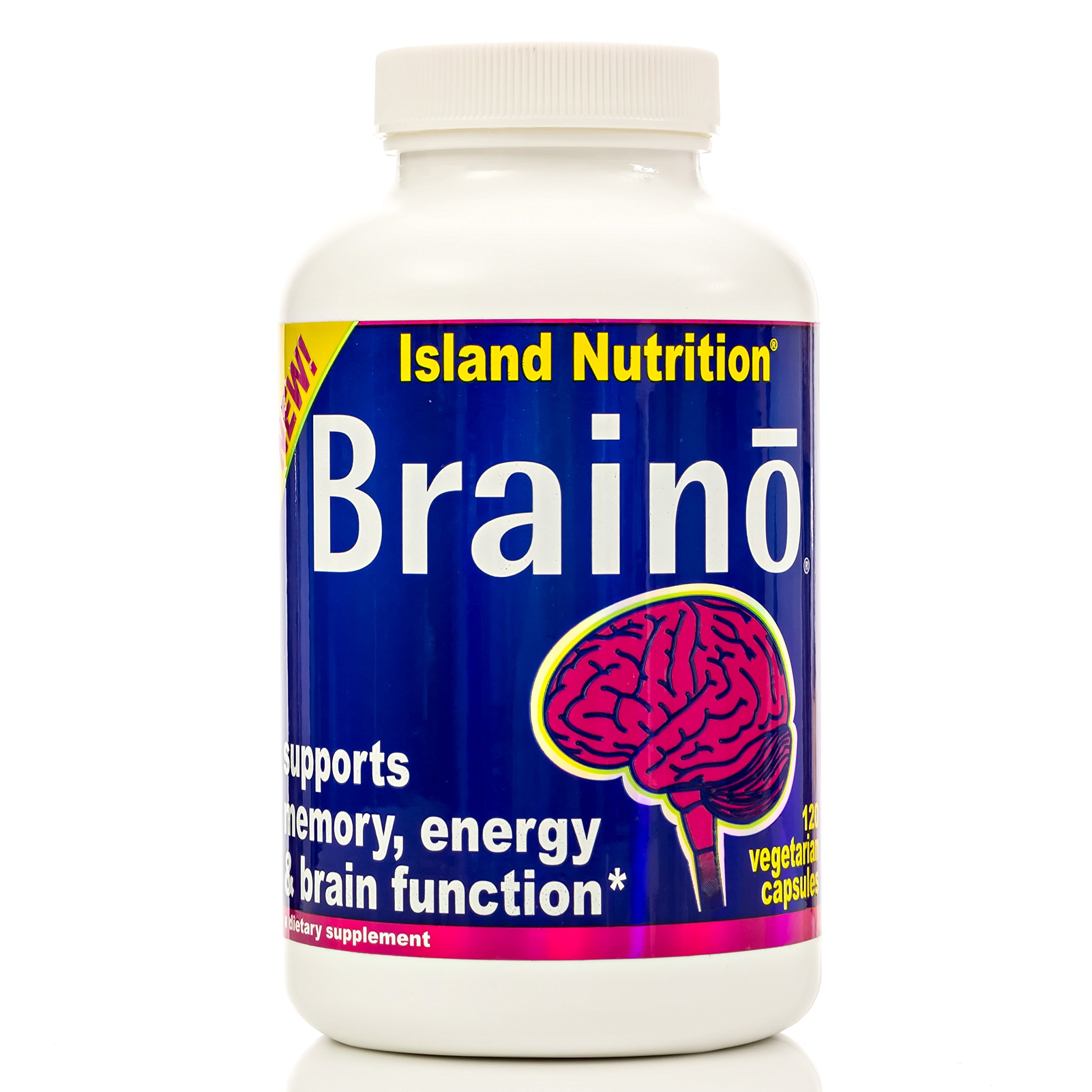 BRAINO® — Professional-Strength Brain Supplement — Comprehensive Formula — High-Dose Premium Active Ingredients — 3,320mg per Serving — 120 Veggie Caps