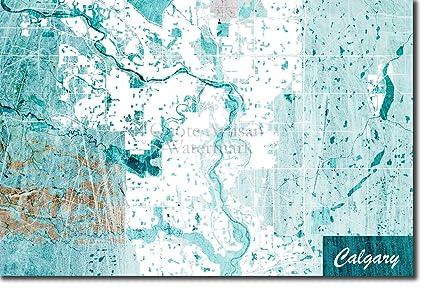 Calgary Canada Map on
