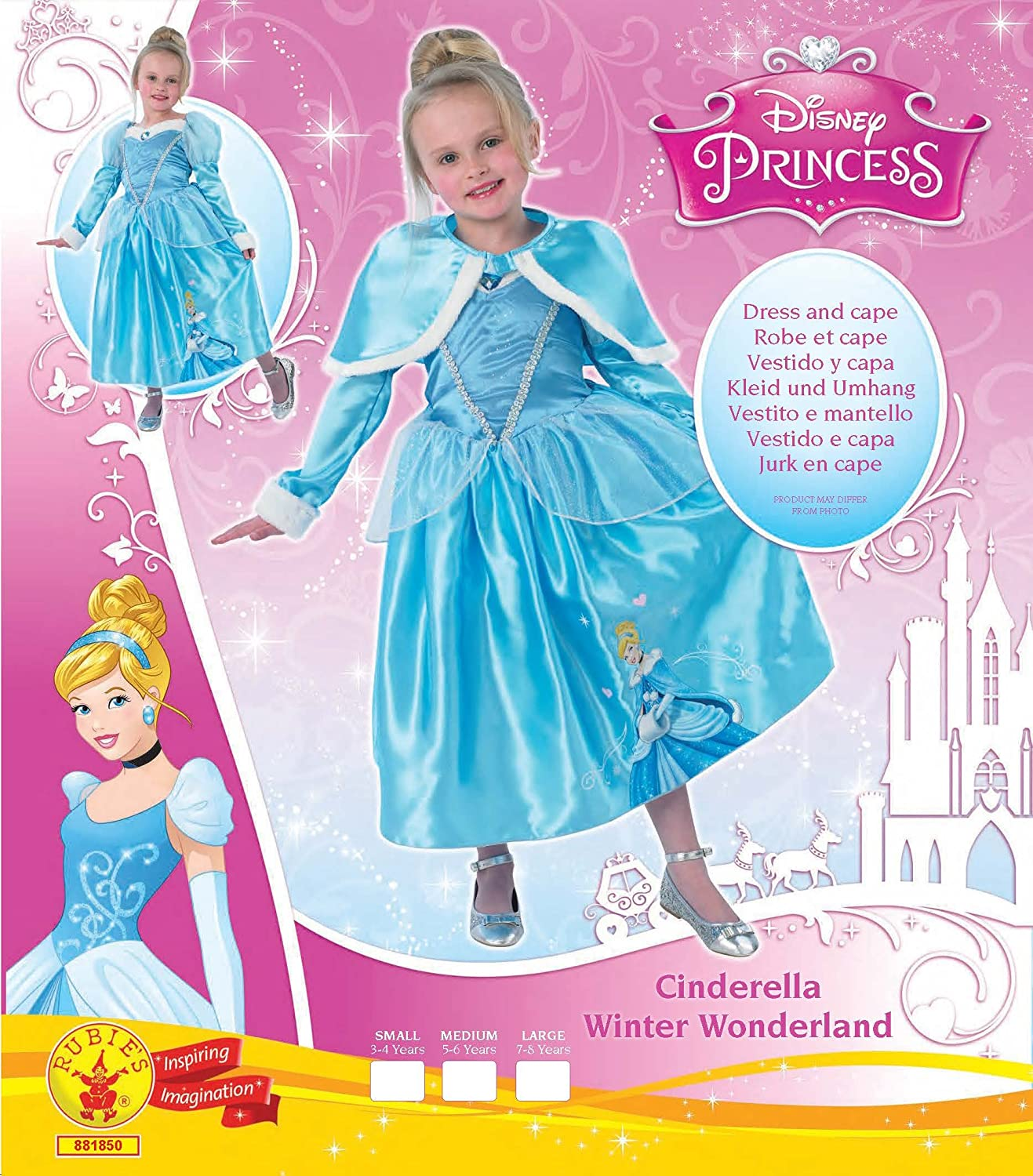 Amazon.com: Disney Princess Cinderella Winter Wonderland Costume: Home Improvement