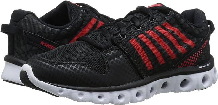 K-Swiss Zapatillas KS X Lite St CMF Negro/Rojo EU 44 (UK 9.5): Amazon.es: Zapatos y complementos