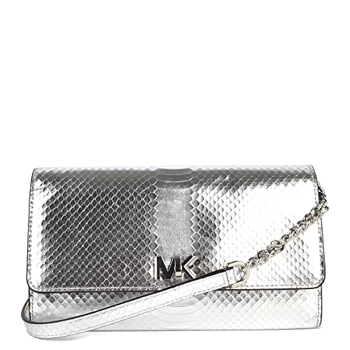 8b1e04998d47 MICHAEL by Michael Kors Mott Silver Python Effect Wallet Clutch one size  Silver: Amazon.co.uk: Shoes & Bags