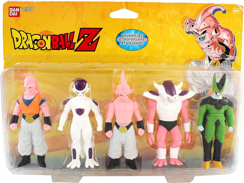 Dragon Ball - Set Heroes Y Villanos Buu 2Nd Stage + Freezer 4Th Stage + Buu 3Rd Stage + Freezer 3Rd Stage + Cell (Bandai): Amazon.es: Juguetes y juegos