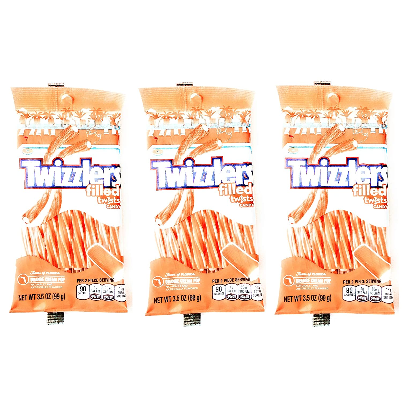 Amazon Com Twizzlers Filled Twists Taste Of Fl Orange Cream