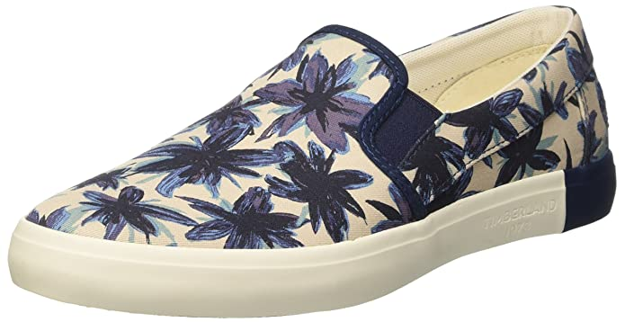 Mens Newport Bay Canvas Plainblack Iris Tropical Print Low-Top Sneakers Timberland WTofQ5