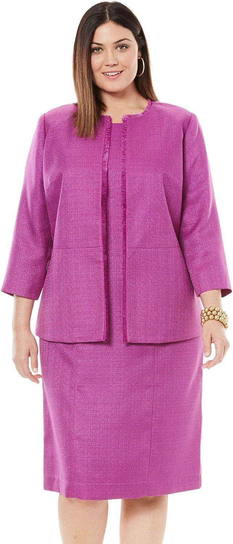 Jessica London Women's Plus Size Tweed Jacket Dress