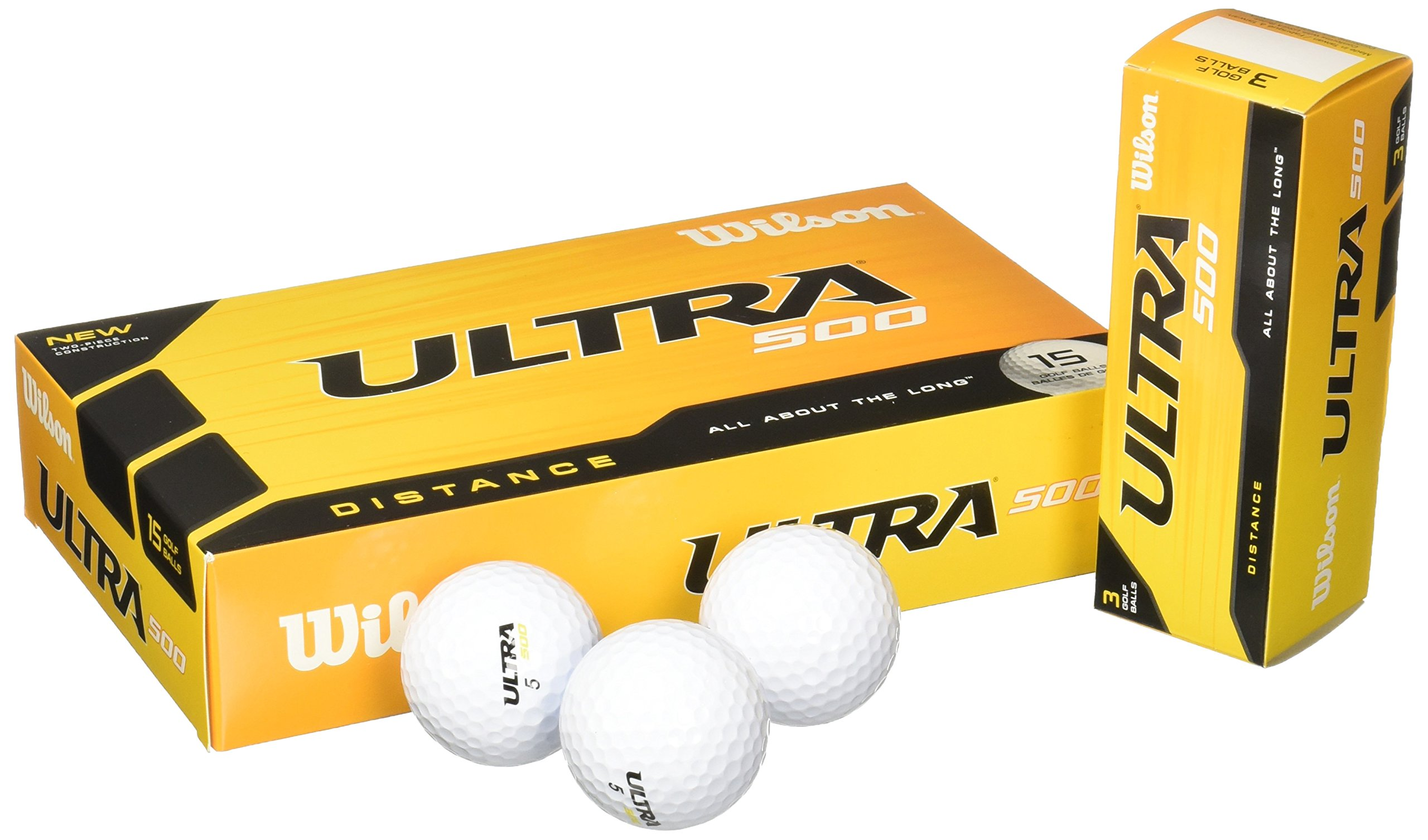 Wilson Ultra 500 Distance Golf Ball (15-Pack), White by Wilson