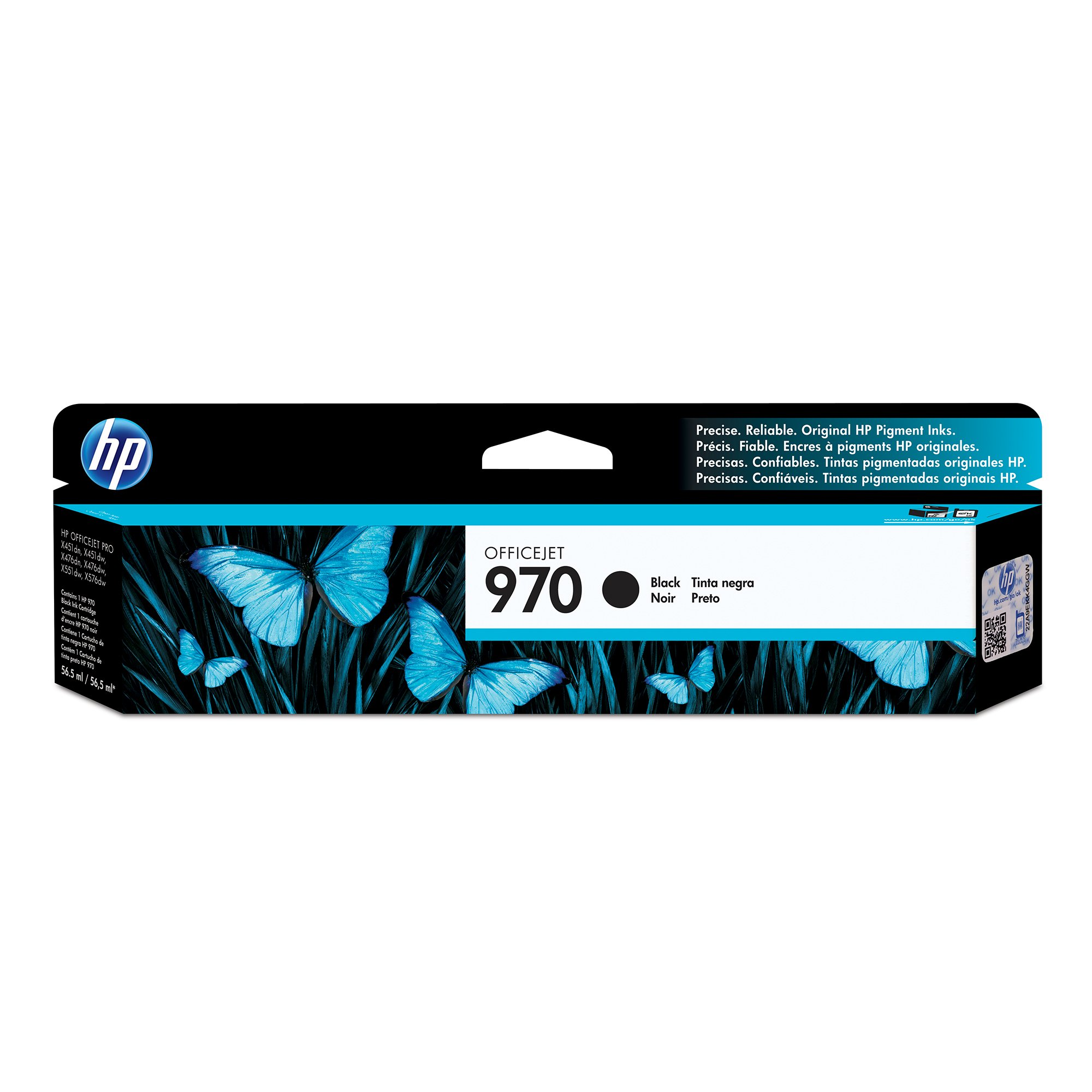 HP 970 Black Original Ink Cartridge (CN621AM) for HP Officejet Pro X451 X476 X551 X576